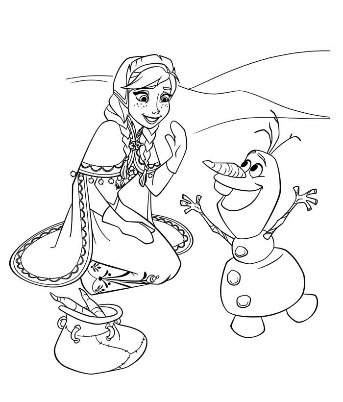 Olaf Da Colorare Anna Di Frozen Da Colorare Elsa Di Frozen