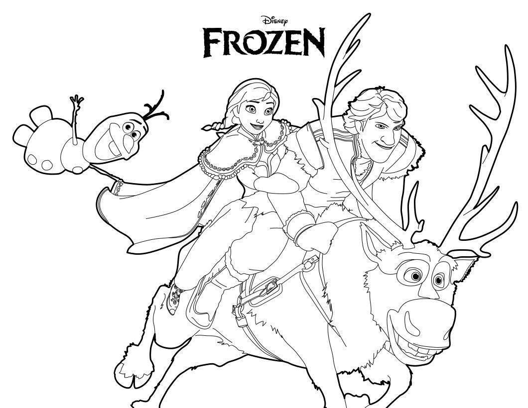 Frozen Coloring Pages Black And White : Disegni da colorare di frozen giochi