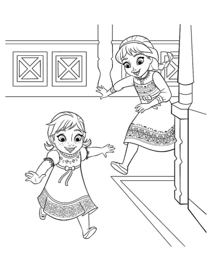 disegni da colorare elsa ed anna
