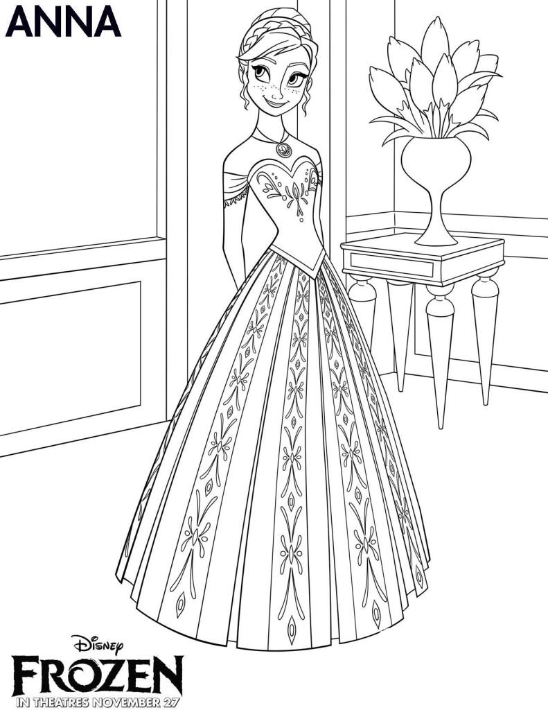 Disegni della principessa anna da stampare giochi di frozen for Disegni della roma da colorare